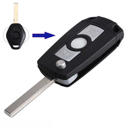bmw e46 car key Canada - Guaranteed 100% Keyless Entry Remote Fob Key Shell Key Car Case For Folding Flip BMW 3 5 7 SERIES Z3 Z4 E38 E39 E46 Free Shipping