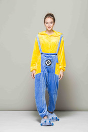 Adorable Minions Onesies Unisex flannel Fancy Pajamas cosplay Costumes Outfit Sleepwear For Adults Welcome Wholesale Order  sc 1 st  DHgate.com & Adult .minion Costume Online Shopping | Adult .minion Costume for Sale
