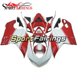 1198 Fairings Canada - Full Fairings For Ducati 1098 848 1198 07 08 09 Sportbike ABS Motorcycle Fairing Kit Bodywork Motorbike Cowling White Red Carenes New