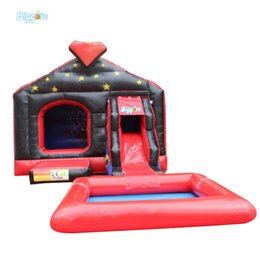 Castle Playhouse Canada - Durable Pvc Tarpaulin Outdoor Jeux Gonflables Inflatable Tobogan Bounce house Slide Bouncy Castle With Slide And Pool