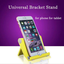Aluminium Tripods NZ - Wholesale- Hot Sale Universal Foldable Cell Phone Stand Holder Portable Tripod Tablet PC Bracket for Ipad Tablet Cell Phone Oc24