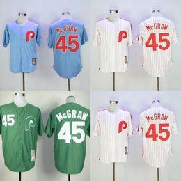 b813c26dbac ... Throwback Red Stripe MLB Jersey Mens New Philadelphia Phillies Jersey  45 Tug Mcgraw Jerseys White Grey Blue Red Elite Cool Base ...