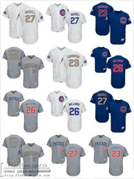 18850fea3 ... Chicago Cubs 23 Ryne Sandberg 26 Billy Williams Grey Blue 27 Addison  Russell White(Blue Strip ...