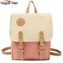 31ef8aa252e9 Discount beautiful backpacks women - Wholesale- Vogue Star Hot New 2017  Fashion Contrast Color Leather