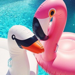 $enCountryForm.capitalKeyWord NZ - 190CM 75 Inch Giant Inflatable Flamingo Swan Pool Float Pink Ride-On Swimming Ring Adults Children Water Holiday Party Toys Piscina