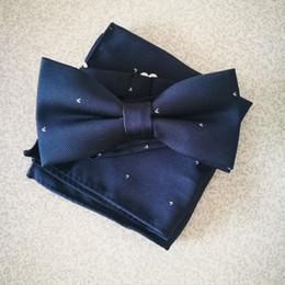 $enCountryForm.capitalKeyWord Canada - New Men Tuxedo Fashion Wine Red Navy Bowtie Hanky Sets Adjustable Novelty Mens Unique Bow Tie Necktie