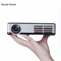 Discount laptop tv wifi - Wholesale- Mini HD 3D Projector WiFi Android 4.4 DLP 1080P Digital home theather tv Active Shutter proyector for PC lapt