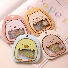 Discount diy cat bag - 50 Pcs lot(1 Bag) Diy Cute Cartoon Kawaii Pvc Stickers Lovely Cat Bear Sticker For Diary Decoration Free Shipping