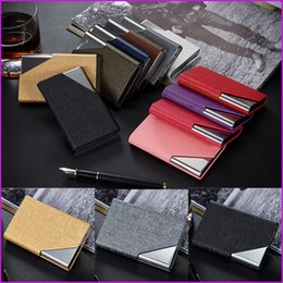 christmas card names 2019 - New Arrival High-Grade Stainless Steel Men Credit Card Holder, Women Metal Name Business Card Case Card Box cheap christ