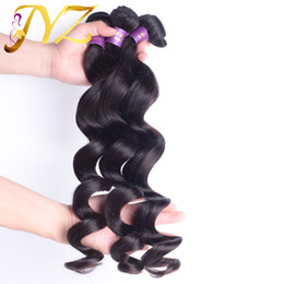 Discount malaysian hair 26 inches - Virgin Human Hair Loose Wave Bundles 3Pcs Malaysian Brazilian Peruvian Indian Loose Wave Hair Weaves Unprocessed Cheap H