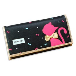 $enCountryForm.capitalKeyWord Canada - Wholesale- Women Wallets Hot Sale Fashion Cute Cat Cards Holder Soft PU Leather Brand Lady Handbags Moneybags Coin Purse Clutch Wallet Bags