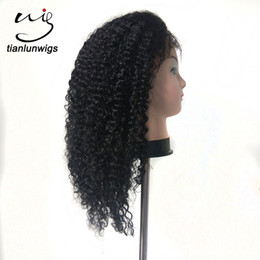 Chinese  afro kinky curl human hair wigs for black women 16inch wig and hair dropship wholesale price manufacturers