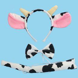 $enCountryForm.capitalKeyWord Australia - 2017 Kids Dairy Cattle Cow Bull Ear Headband Kids Tail Cosplay Performance Show Hair Accessories Halloween Birthday Party Favors Gift