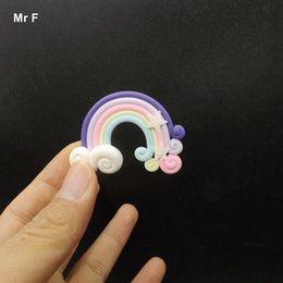 kawaii flats Canada - Flat Back Resin Crafts Accessories Kawaii Rainbow Model Toy Artificial Simulation Figurines Perceive Learning Game Educational Prop