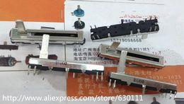 Wholesale Wholesale-free shipping 10pcs Black 4.5 cm long double mixer fader potentiometer B10K X2