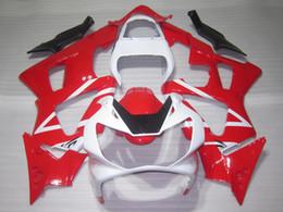 Honda cbr929rr fairing red injection online shopping - Injection molding fairing kit for Honda CBR900RR red white motorcycle fairings set CBR929RR OT07