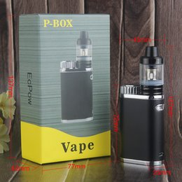 $enCountryForm.capitalKeyWord Canada - New Design Vape Mechanical P Box Mod 50W 18650 Battery Cell Sub .3 ohm Tank Vaporizer Pen Starter Kit E Cigarette