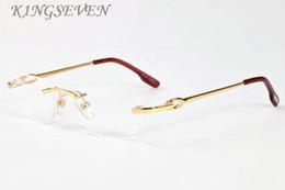 Rimless Shield Canada - 2017 Fashion Coating Rimless Sunglasses Men Brand Designer Sunglasses Women Frameless Sun Glasses Frames Clear Lenses Gafas De Sol with Box