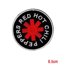 Parches De Banda Baratos-Red Hot Chili Peppers Música Rock Band Applique Hierro en Patch Sew para la camiseta