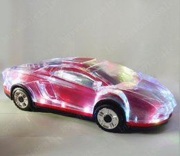 LED Işık Araba Şekli Mini Taşınabilir Bluetooth Wieless Hoparlör Subwoofer Stereo Destek USB FM Radyo MP3 Müzik Çalar samsung s8 iphone x