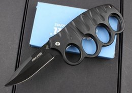 $enCountryForm.capitalKeyWord NZ - Cold steel 219 Knuckle Duster pocket knife folding blade 7CR17Mov Blade Aluminum Handle hunting tactical camping knife knives with retail bo