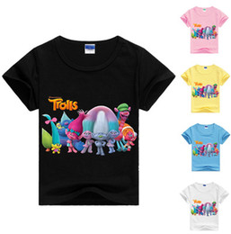 Grils Shirts NZ - Hot Sell Trolls grils boy's Tees TShirts Clothing Baby Kids Cotton T-Shirts Kids T-Shirt vetement Kids Summer Clothes