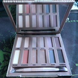 Discount eyeshadow palette mirror - Ultimate Basics Eye shadow Palette 12 Color Matte Eyeshadow 12 Shades + MIRROR + BRUSH Kit DHL Free