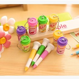sale pens Australia - The new creative stationery South Korea tea cups of telescopic cans ball-point pen factory direct sale