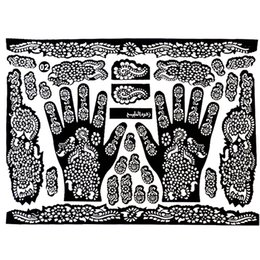 Wholesale Tattoo Templates Hands Feet Henna Stencils For Airbrushing Mehndi Body Painting