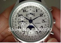 Chinese  Wholesale-Top brand Automatic Mechanical watch Calendar Date Moonphase Business Men's Watch L2.673.4.78.3 manufacturers