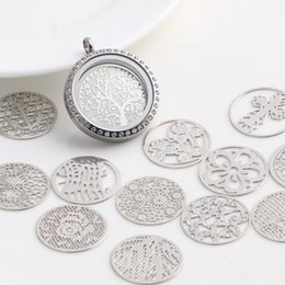 Window Charms NZ - 20PC Mixed Design Round Window Plate Charms Silver Floating Plates for 30mm Glass Charms Locket Wholesale