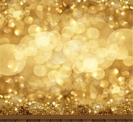 Barato Imagens De Baby-8x8ft Gold Sparkle Bokeh Fotografia Fundo para Estúdio Photo Photo Booth Newborn Baby Props Children Merry Christmas Backdrop