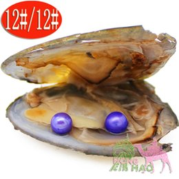 pearl oyster shell wholesale Australia - Mysterious Gifts 6-7mm Dyeing 28 Colors Round Pearls Vacuum Packaging Natural Akoya Shell Freshwater Love Pearls Oysters