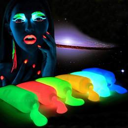 Painting Faces Australia - Wholesale-5pcs Face Paint Professional Flash Fluorescent Body Paint Grow Face Pigment Luminous Acrylic Art Face Painting for Party Makeup