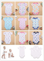 girls clothes size 12 months Canada - Baby Rompers Suit KATE AMOU Summer Infant Triangle Romper Onesies 100% cotton Short sleeved babies clothes boy girl sizes 6 9 12 18 month