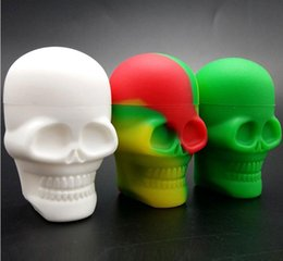 Discount coating electronics - High Quality Skull Shape Wax Container Jars Box Silicone Container For Oil Crumble Honey Wax Tools Jars Dab Wax Dab Cont