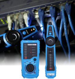 Lan cabLe tester cat6 online shopping - RJ11 RJ45 Cat5 Cat6 Telephone Wire Tracker Tracer Toner Ethernet LAN Network Cable Tester Detector Line Finder DHL free