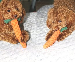 $enCountryForm.capitalKeyWord Canada - Braided Carrot Shape Chew Teethers Cute Pet Cotton Knot Rope Chew Toy for Dog Puppy Training Teeth Cleaning