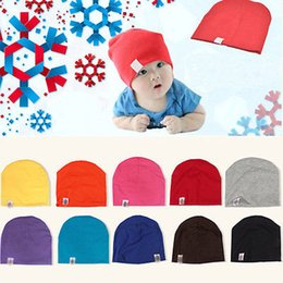 Newborn Black Baby Beanies NZ - Unisex Cotton Beanie Hat for NewBorn Cute Baby Boy Girl Soft Toddler Infant Cap Hat
