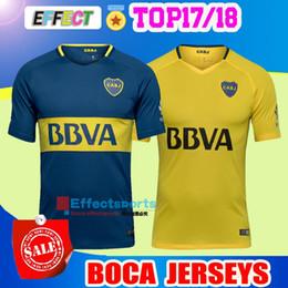 Thai quality 2017 2018 Boca Juniors Soccer Jerseys 17 18 GAGO OSVALDO  CARLITOS PEREZ P HOME Blue AWAY Yellow Argentina Club Football shirts ... 418437870