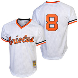 badd04107e2 ... Mens Baltimore Orioles Cal Ripken Jr. Mitchell Ness White 1985 Authentic  Cooperstown Collection Batting Practice ...