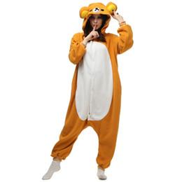 074832cfa702 Children Anime Costume UK - Cartoon Rilakkuma KIGURUMI Pajamas Unisex Children  Adult Animal Cosplay Costume Onesie