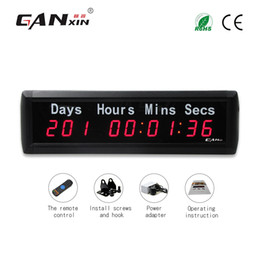 "$enCountryForm.capitalKeyWord NZ - [GANXIN]1"" Plus 9 Digits LED Timer Countdown up Wall Mounted Clock with Days Hours Mins Secs Red Color"