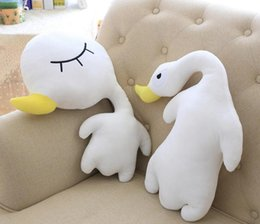 New 45CM 48CM Short Plush Duck Toy Staffed Lovely Little Doll Lie With Nanoparticle Birthday Gift Free Delivery