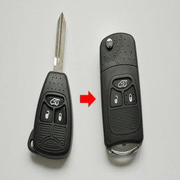 $enCountryForm.capitalKeyWord NZ - 3 Buttons Remote Flip Folding Key Shell Case For Chrysler Dodge Jeep 300 Dakota Aspen Durango Grand Cherokee 3BT