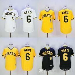 baseball jersey retro black white home 2016 newest elite mens pittsburgh pirates 6 marte 21 clemente 22 andrew mccutchen 24 bonds flexbase
