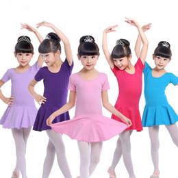 $enCountryForm.capitalKeyWord Canada - Children dancewear for girl Jumpsuits School students performance skirt Button crotch Summer Short sleeve Logo print Custom-made 2-9years