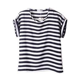 Ladies Black White Striped T Shirt Suppliers | Best Ladies Black ...