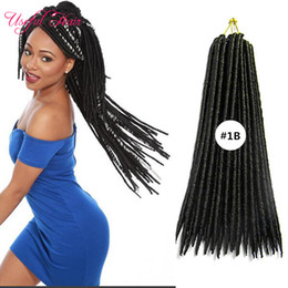 crochet hairstyles UK - 120g pcs faux locs braids for black ladies crochet braids syntheitc hair extension braiding braid hairstyles 14,18inch braiding freetres