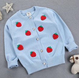 $enCountryForm.capitalKeyWord Canada - 2017 Autumn Winter New Girls Sweaters embroidery Strawberry Kid warm Cotton Coat Children Clothing Baby Knitted cardigan Sweater